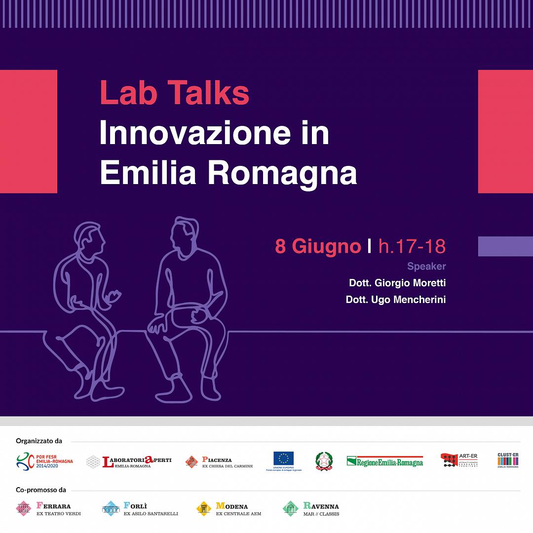 LUNEDì 8 GIUGNO – Innovazione in Emilia-Romagna – LAB TALK