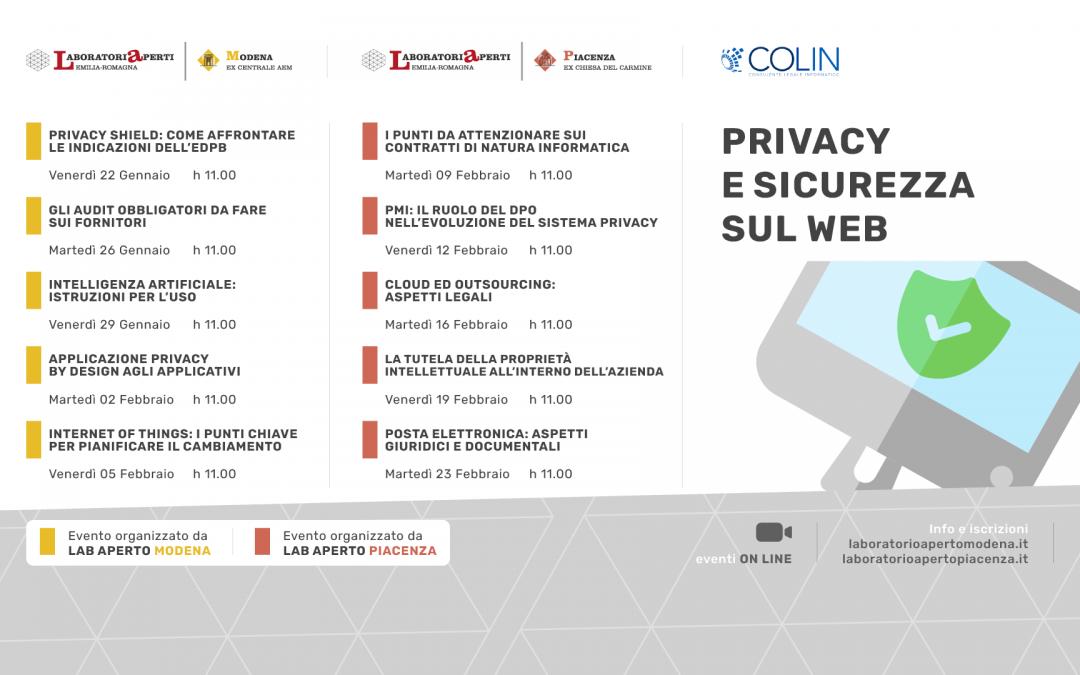 PRIVACY E SICUREZZA SUL WEB – CICLO DI INCONTRI SUL DIRITTO INFORMATICO