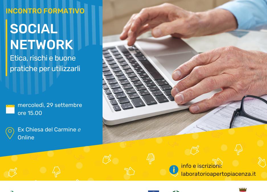 """Incontro formativo """"Social network: etica, rischi e buone pratiche per utilizzarli"""""""