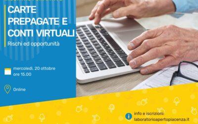 """WEBINAR """"Carte prepagate e conti virtuali: rischi ed opportunità"""""""